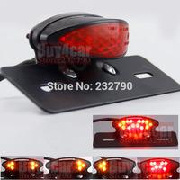 Universal Motorcycle LED Tail Light Running Rear Turn Signal Braking Lamp Red Brake Stop Lamp #3836
