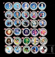 100pc/lot frozen Elsa Dora barbie sofia the first mickey monster high Rhinestone DIY button FlatBack Hair Bow center accessories
