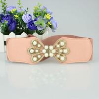 Free shipping New arrive fashion bowknot belt  wide elastic belt brand designer cummerbund apparel accessories wholesale