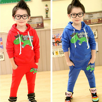 spring Children's leisure suit autumn Pure cotton printed cartoon boy set free shipping 5sets/lot