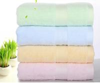 Bath Towel 140*70cm  Cotton Bamboo Fiber 4 Colors Women Beach Baby Towel Bath Towel KK003