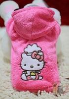 Free shipping  factory Sale Hello kitty  Pet  dog cute winter rose coat hoody jumper  XS-XL 10pc/lot    LP72401