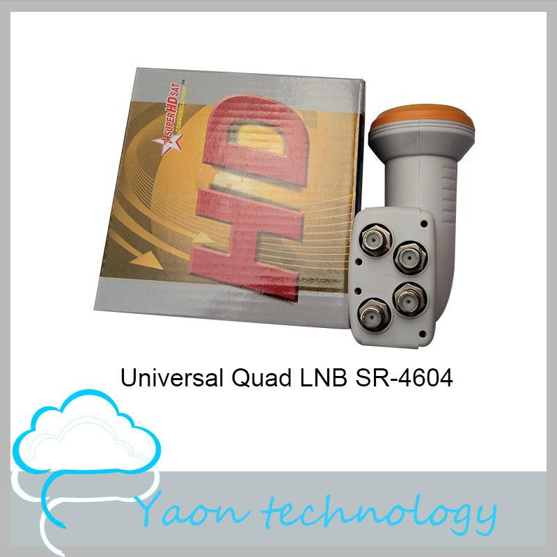 10pcs Digital KU Band Universal Quad LNB SR-4604 Support HD Waterproof N.F0.1db Gain60dB LNBF in Satellite TV Receiver(China (Mainland))