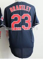 Cheap Sale, #23 Michael Brantley Men's Blue/White 2014 New Baseball Jerseys wholesale Accept Mix Order