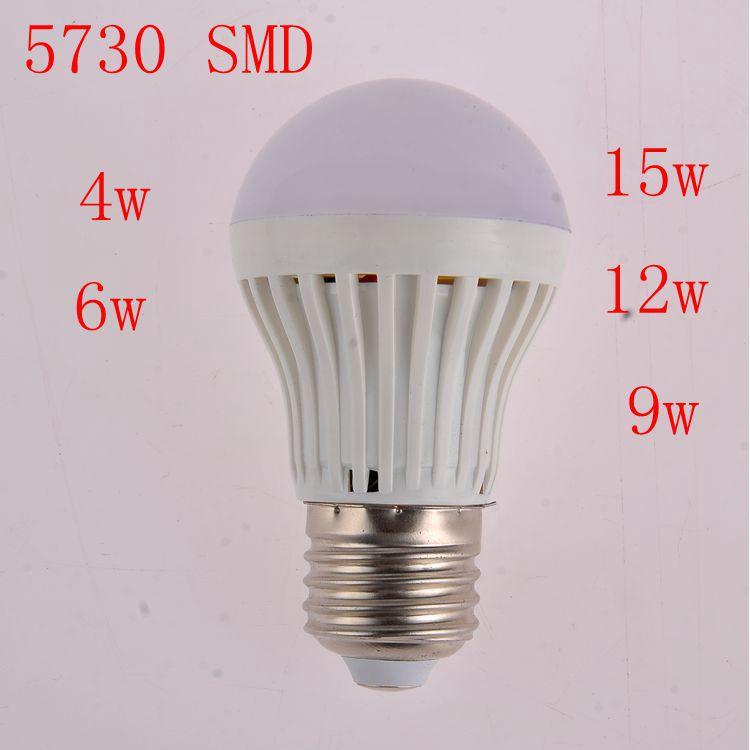 1piece/lot LED lamps High brightness led lights Corn Bulb E27 4W 6W 9W 12W 15W 5730SMD AC220V 230v 240v led bulb(China (Mainland))