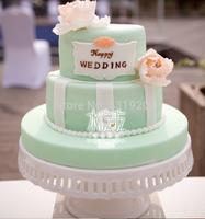 12 inch white Cake pan ceramic high fashion cake stand wedding dessert plate (2 pieces) diameter 32cm,height 14cm
