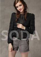 Free shipping 2014 winter new female short multicolor fashion bead down padded coat