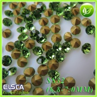 2014 New Glass Point Back Rhinestone Peridot color  Point Back Chaton 288pcs