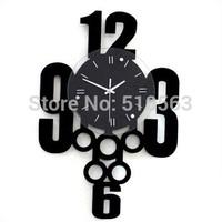 gz035 Free shopping 1pcs decorative clock Han edition creative fashion and personality Modern large silence bedroom wall clock