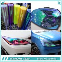 30 * 120 cm Shiny Chameleon Auto Car Styling headlights Taillights Translucent film lights Turned Color Car film Sticks Stickers