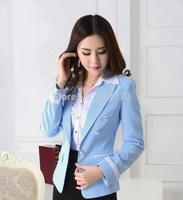 New 2014 Fall Winter Formal Women's Blazer Coat Jacket Tops Professional Business Women Work Wear Blazers Outwear Plus Size XXXL