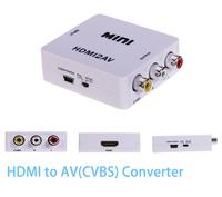 Max Supports 1080P @ 50/60Hz HDMI TO AV CVBS Converter Box, Mini HDMI TO AV CVBS