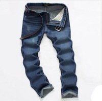 Jeans desigual skinny long mid-rise straight zipper fly light wash cotton blue slim fit designer brands high quality male D407