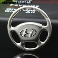 Free shipping The steering wheel model series Modern car logo key chain key ring 4 s shop car man woman Christmas