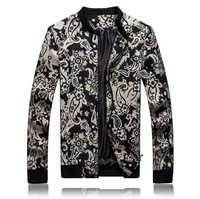 men's novelty plus size casual jacket fashion floral large jacket euro america hawaii style size m l xl xxl xxxl 4xl 5xl