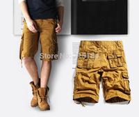 High Quality Brand Men Bermudas masculina de marca Camo Shorts FREE SHIPPING camouflage cargo shorts for men Size 29-40 Black