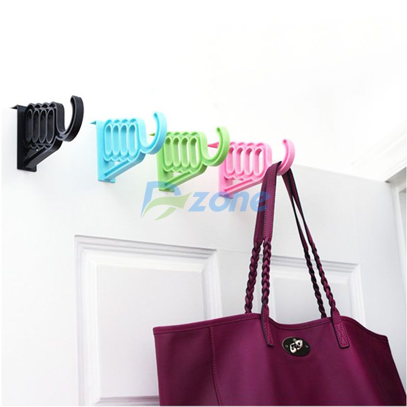 Convenient Door Back Hanger Over Door Hook Hanging Five Hooks One Piece Set#57626(China (Mainland))