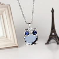 fashion necklace owl shape  long necklace women free shipping
