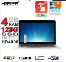 "Hasee Aluminum 14"" LED TouchScreen 4GB Ram Ultrabook Intel Core i7-3517U 3.0GHz 128GB SSD Intel HD4000 HDMI WiFi USB 3.0(China (Mainland))"