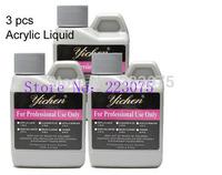 Free shipping   Acrylic Liquid Set False Acrylic Nail Art 120ml Salon Professional Tool 3 Pcs/lot