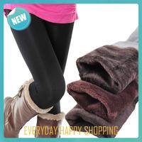 2014 autumn and winter warm women leggings,plus size Faux Velvet pants,fitness slim footless black leggings