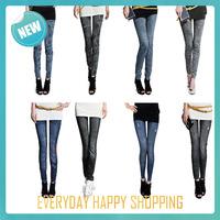 2014 new women thin Leggings,Prints Casual Faux Jeans,Ladies pencil warm pants nineth autumn winter leggings for Women