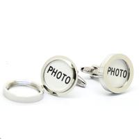 Silver Round Frame Cufflinks