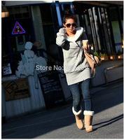 2014 Winter Women Hoodie Coat Zip Up Outerwear Warm Jackets/Coats for Women Sport sweatshirt Thickening Fur