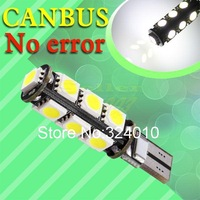 wholesale 10pcs T10 13 SMD Pure White CANBUS OBC No Error Interior Car W5W LED Light Bulb