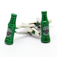 Green Beer Bottle Modeling Cufflinks