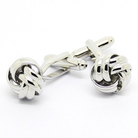 Classic Silver Chinese Knot Cufflinks