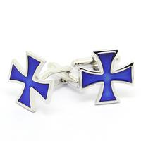 Fashion Blue Cross Cufflinks