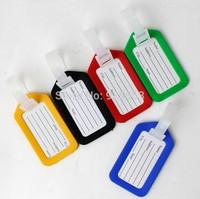 100 Pcs/lot Multi-colored Plastic Luggage Tag Travel Accessories