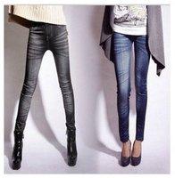 Women Stretch Stonewash Denim Jeans Skinny Leggings Pencil Pants Trouser  For Freeshipping