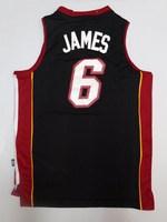 James Miami Jersey #6 Lebron James Jersey Cheap Throwback Basketball Jerseys REV 30 Embroidery Logo Maillot Camisetas Basketball