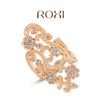 Rings For Women Aneis Anel Roxi Christmas Gift Classic Genuine Austrian Crystals Fashion Kiss Fish Ring 100% Man-made Big Off