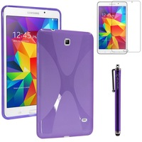 5pcs/lot colorful tpu gel silicone case X Style for Samsung Galaxy Tab 4 8.0 T330 T331 T335+Free Stylus Pen Send