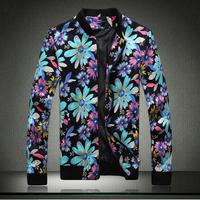 New plus size 5XL printing zipper casual jackets men autumn winter spring men jackets fashion Men's Coats >Jackets