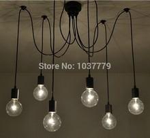 6-arm Edison chandelier different holders filament pendant lamps(China (Mainland))