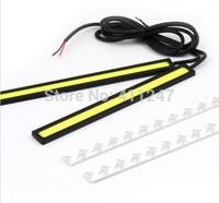 1pair 12V Ultra-thin COB Chip LED Car Auto DRL Daytime Driving Running Fog Light Lamp Free shipping