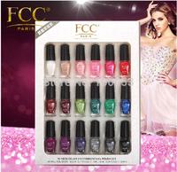 2014 New  French raw materials FCC 5ml * 18 Nail Polish Choose Tips Top/basecoat Free Shipping