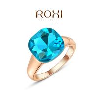 2014 Rings For Women Aneis Roxi Christmas Gift Classic Genuine Austrian Crystals Fashion Kiss Fish Ring 100% Man-made Big Off