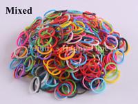 1800 Mixed color rubber loom bands + 75 clips for DIY making bracelets crafts 3 bags/set
