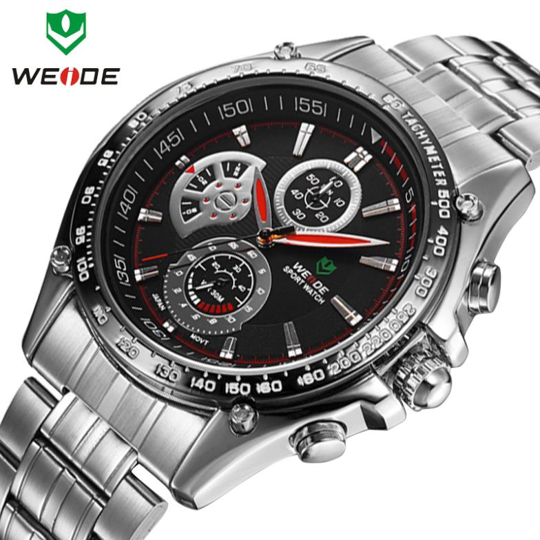Watches men luxury brand original WEIDE sports watches quartz alarm LED diving 30 meters water resistant men wristwatches(China (Mainland))