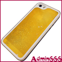 For iphone 5s case New Fashion Luxury Orange Luminous Quicksand Series Hard Case Cover Skin For iphone 5s cover