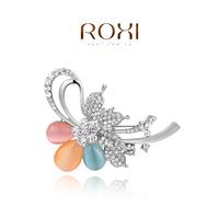 2014 Broches Hijab Esmaltes De Unhas Free Shipping Christmas Gift Fashion Alloy Brooch Flower Crystal Jewelry Women For Wedding