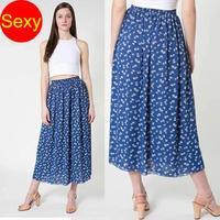 Chiffon skirt   women sexy floral skirt saias femininas 2014 fashion pleated skirt