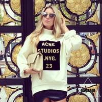2014 news casual women hoodies letters printting full sleeve cotton plus size women's pullovers sweatshirts l1242