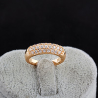 2014 Fashion Simple Real 18K Rose Gold Plated Engagement Rings Crystals Jewelry Free Shipping XY-R456