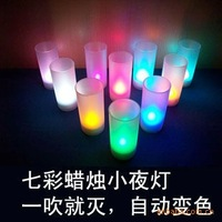 N081 colorful candle lamp / led candle light / Sound candle lamp / electronic candle lights